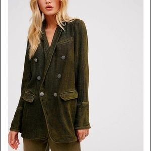 Free People Long and Slim Chenille Blazer